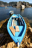 Blue boat Royalty Free Stock Images