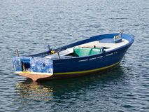 Blue boat Royalty Free Stock Photo