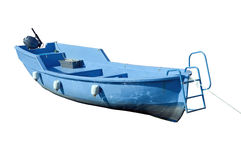 Blue boat Stock Photos
