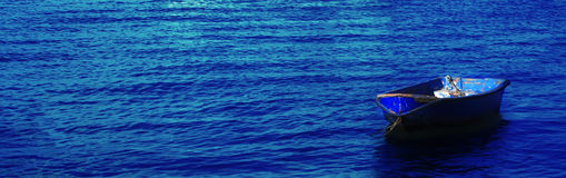 Blue Boat Stock Image