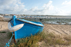Blue boat Stock Image