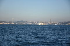 Istanbul ferry on Bosphorus, Turkey. royalty free stock image