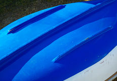 Blue Boat Hull abstract Stock Photography