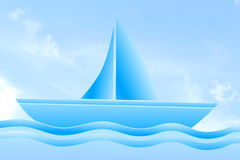 Blue  boat icon isolated on a sky background Stock Image