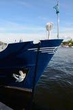 Blue boat Royalty Free Stock Photos