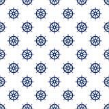 Blue Boat`s Wheel , Seamless Pattern Royalty Free Stock Photography