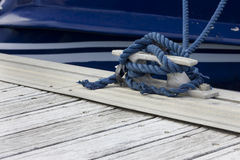 Blue boating knot Royalty Free Stock Photo