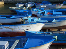 Blue boats Royalty Free Stock Photography