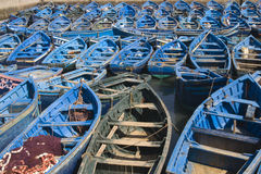 Blue Boats Stock Images