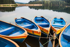 Blue boats Royalty Free Stock Images