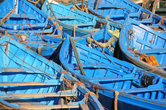 Blue boats Royalty Free Stock Image