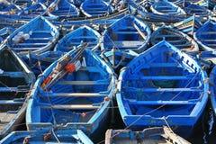 Blue boats Stock Photo