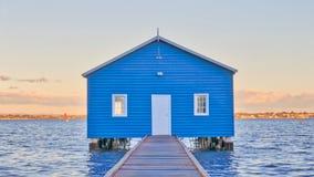 Blue Boatshed Stock Photography
