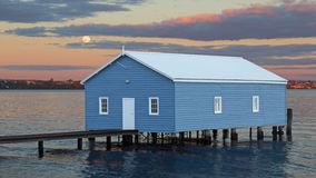 Blue Boatshed Stock Images