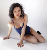 Blue bodysuit Stock Photo