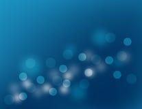 Blue bokeh. Abstract blue circles, light bokeh Royalty Free Stock Photography