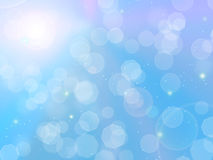 Blue bokeh. Blue sky with a glare of light vector illustration