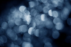 Blue bokeh Royalty Free Stock Photos