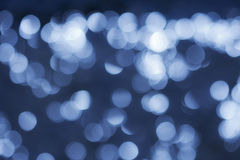 Blue bokeh Royalty Free Stock Images
