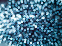 Blue Bokeh Abstract. Glitter out of focus bokeh background Stock Image