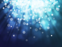 Blue bokeh abstract backgrounds Royalty Free Stock Photos