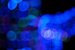 Blue bokeh abstract on black background. Blue bokeh abstract on a black background, lights Stock Images