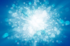 Blue bokeh abstract light background Royalty Free Stock Photography