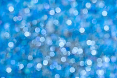 Blue bokeh abstract light background Royalty Free Stock Images