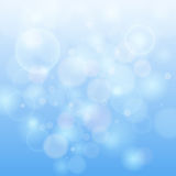 Blue bokeh abstract light background. Stock Images