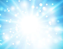 Blue bokeh abstract light background Stock Image