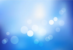 Blue bokeh abstract light background. Vector Stock Image