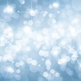 Blue bokeh background Stock Photo