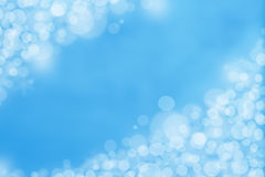 Blue Bokeh Background. Light Bokeh On Blue Background Royalty Free Stock Images