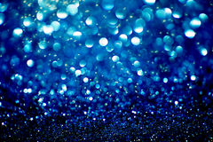 Blue bokeh background created by neon lights royalty free stock photos