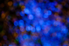 Blue bokeh background created by neon lights Stock Photo