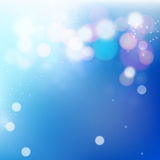 Blue Bokeh Background Royalty Free Stock Photography