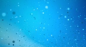 Blue bokeh background for technology concept, abstract illustrat. Ion Royalty Free Stock Images