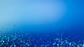 Blue bokeh background for technology concept, abstract illustrat. Ion vector illustration