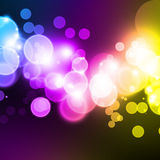 Blue bokeh background. A blue and white bubble background design Stock Images