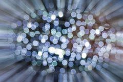 Blue bokeh of Christmas light with zoomed in effect Royalty Free Stock Image