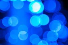 Blue bokeh. Stock Photos