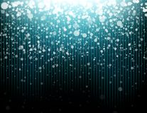 Blue bokeh falling from the sky. Vector Illustration of Blue bokeh falling from the sky Stock Photo