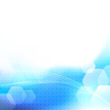 Blue bokeh glow dotted abstract background Stock Photos