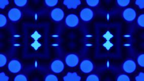 Blue bokeh kaleidoscope sequence pattern. Abstract graphics background royalty free illustration