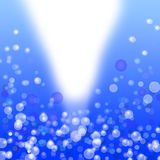 Blue bokeh light abstract  background Stock Photos