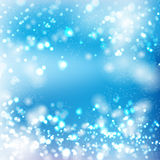 Blue bokeh light background Stock Image