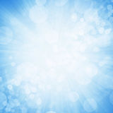 Blue bokeh with light background Royalty Free Stock Images