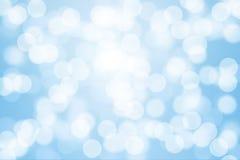 Blue bokeh light. For background Stock Photos