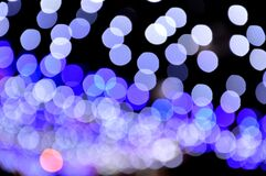 Blue bokeh lights