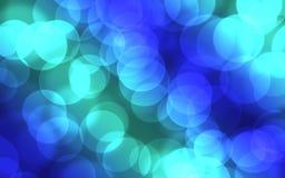 Blue bokeh lights Stock Image